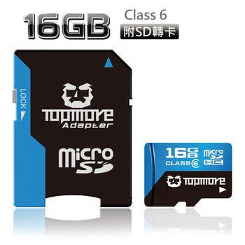 TOPMORE 16GB microSDHC Class6 記憶卡