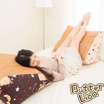 【奶油獅】正版授權台灣製造-搖滾星星紙纖舒涼三角靠墊(2入)