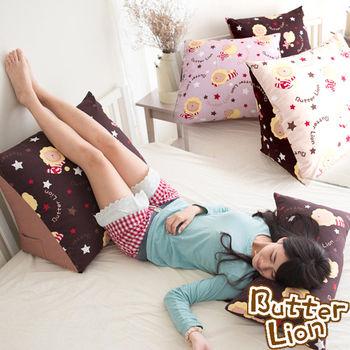 【奶油獅】正版授權台灣製造-搖滾星星三角靠墊(2入)3色