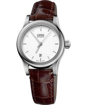 ORIS經典三針機械女錶-白56176504051LS