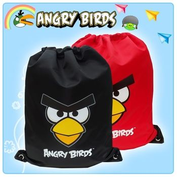 【Angry Birds】憤怒鳥 俏麗束口後背袋(二色)