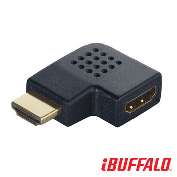 Buffalo HDMI 公對母 水平L型轉接頭