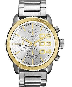 DIESEL 忍者戰將時尚計時腕錶-銀/金 DZ5321
