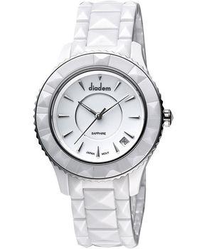 Diadem 黛亞登 巴洛克優雅陶瓷腕錶-白 7D5132SS