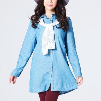 iima 森林系女孩牛仔丹寧洋裝2件組(型)