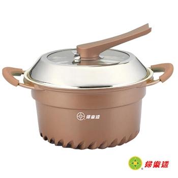 【婦樂透】超級節能不沾瓷晶湯鍋24cm(玫瑰金)