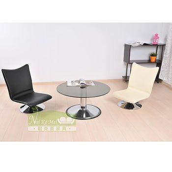 【NaiKeMei】馬克斯仿馬鞍皮面和室旋轉電腦椅/咖啡椅