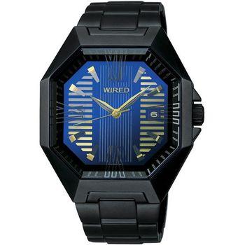 WIRED 宇宙探險腕錶(7N42-0FB0K)-金/IP黑