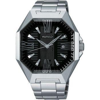 WIRED 宇宙探險腕錶-黑/銀 7N42-X007D