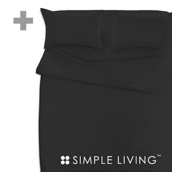【SIMPLE LIVING】 素色系列雙人加大 黑色被套
