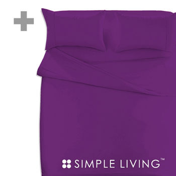 【SIMPLE LIVING】 素色系列雙人加大 深紫色被套