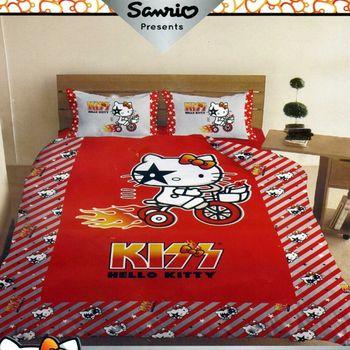 【Kiss Hello Kitty】單人床罩4件組