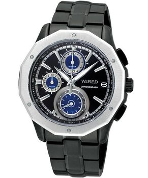 WIRED黎明昇起時尚潮流腕錶-IP黑VK67-X001SD