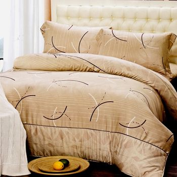 【KOSNEY】簡樸曲線圈加大100%天絲四件式兩用被床包組