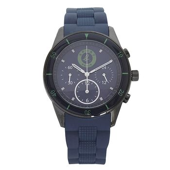 agnes b.  SPORT b.系列手錶藍/錶面邊帶黑