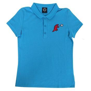 agnes b.SPORT b.系列紅色恐龍造型腰身短袖T(1)藍