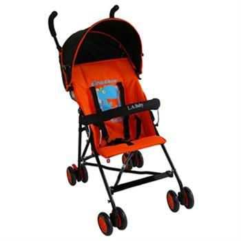 LA Baby 亮彩輕便嬰兒手推車(亮彩橘)