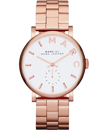 Marc Jacobs國際舞台腕錶-銀x玫塊金MBM3244