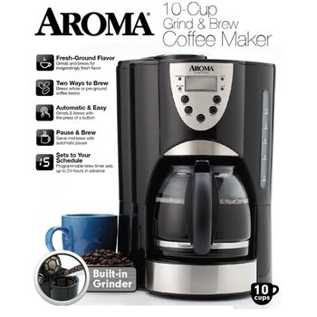 【美國AROMA】自動磨豆美式咖啡機(ACM-900GB)