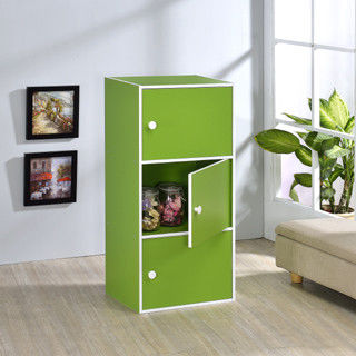 【好傢俱】三層門櫃-綠