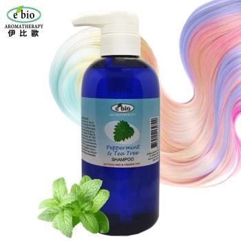 e'bio伊比歐茶樹&薄荷精油洗髮精500ml-頭皮屑適用(略涼配方)