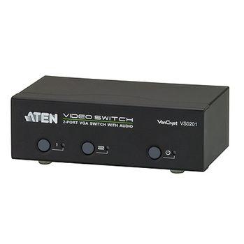 ATEN 2埠視訊切換器+音訊功能 (VS0201)