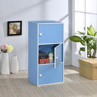 【好傢俱】三層門櫃-水藍