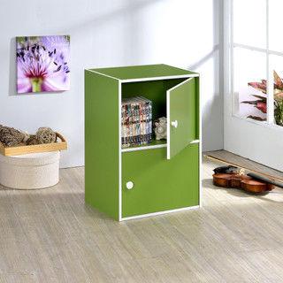 【好傢俱】二層門櫃-綠