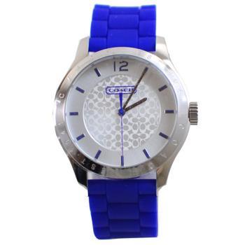 【COACH】 W6000 Maddy 經典LOGO時尚腕錶(紫)