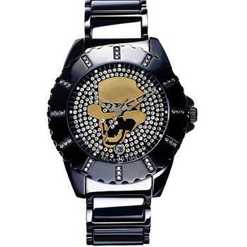 Relax Time骷髏頭先生晶鑽帥性腕錶R0800-18-03B