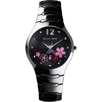 Relax Time花樣年華陶瓷時尚腕錶-黑RT-26-13