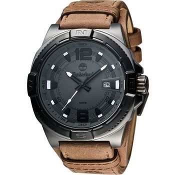 Timberland型男腕錶-咖啡TBL.14112JSUB/61