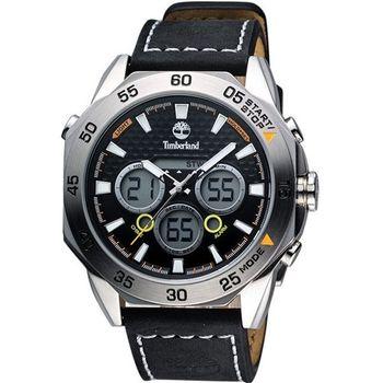 Timberland雙顯多功能腕錶-黑TBL.14115JS/02