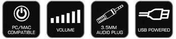 Genius SP-D120 晶鑽方塊USB時尚喇叭-白色