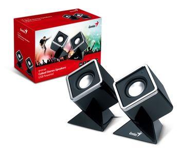 Genius SP-D120 晶鑽方塊USB時尚喇叭-黑色