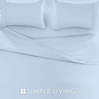 【SIMPLE LIVING】素色系列 淺藍特大三件式枕套+床包組