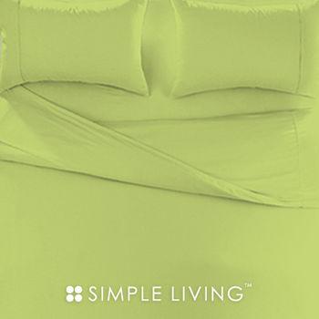 【SIMPLE LIVING】素色系列 綠色特大三件式枕套+床包組