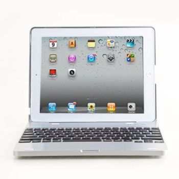 The New iPad 專用藍芽鍵盤筆電盒-網