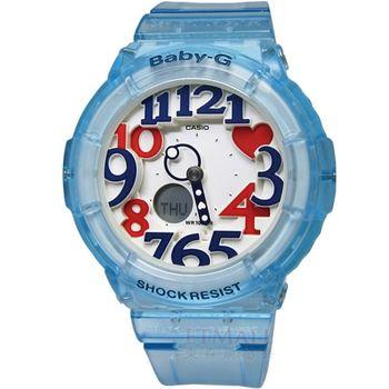 BABY-G 輕透涼感‧果凍色系雙顯腕錶_藍 BGA-131-2B