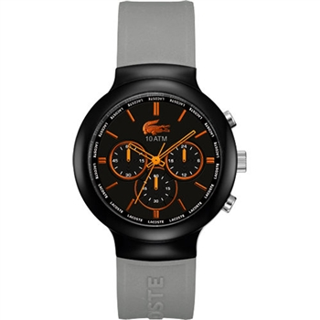 Lacoste 鱷魚 運動時尚計時腕錶-黑/灰 L2010655