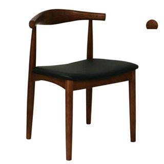 【好傢俱】默爾比休閒餐椅-胡桃