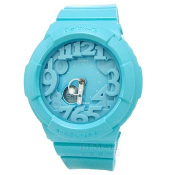 BABY-G繽紛霓虹雙顯腕錶‧水湛藍‧BGA-130-2B