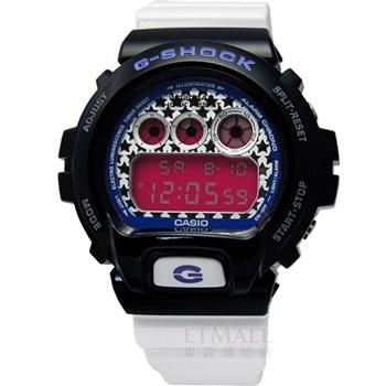 G-SHOCK 街頭‧耀眼星星電子腕錶-黑白DW-6900SC-1