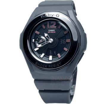 BABY-G 粉紅甜心‧層次雙顯運動腕錶_灰 BGA-143-8B