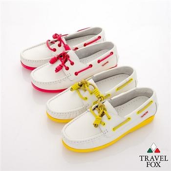 Travel Fox(女) 旅狐帆船鞋 棉花糖底白色帆船鞋