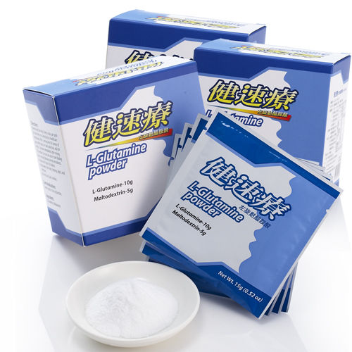 【健速療】左旋麩醯胺酸隨身包3盒(15g x9包/盒)