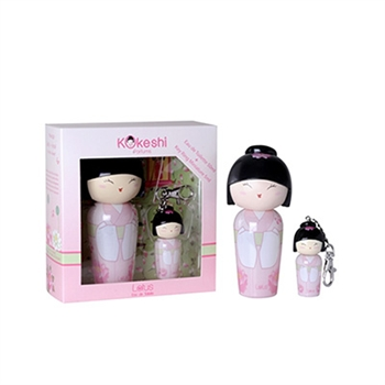Kokeshi Lotus美麗娃娃女性香水禮盒50ml香水+鑰匙圈