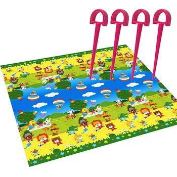日本【Platec】可愛動物園遊會野餐墊(180x180公分)