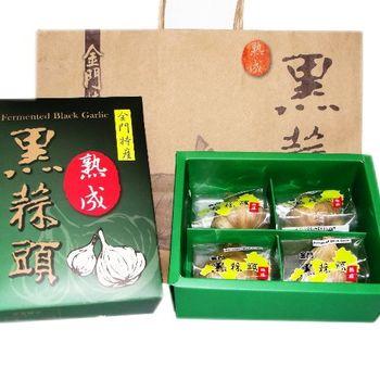 金門 黑蒜頭禮盒(L)(4顆入x3盒)