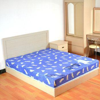 【時尚屋】絲黛特蓆面印花彈簧床-單人3.5尺